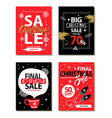 really big christmas sale vector image vector image