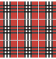 red black and white plaid pattern background vector image vector image