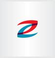 red blue z logo letter symbol icon element vector image