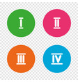 roman numeral icons number one two three vector image