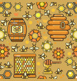 seamless pattern beekeeping product vector image vector image