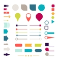 Set of elements markers arrows and dividers for vector image vector image
