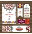 Set of geometric boho flyers decorative vector image vector image