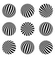 set of minimalistic shapes black and white vector image vector image