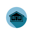 Simple house detailed Property developer co vector image vector image
