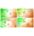 soccer backgrounds in colors of ireland vector image