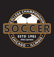 soccer sports apparel with football ball chicago vector image vector image