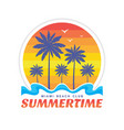summertime miami beach club vector image vector image