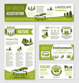 templates for green eco environment company vector image vector image