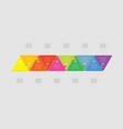 ten pieces puzzle triangle line info graphic vector image