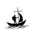 the follower of jesus christ floats in the boat vector image vector image