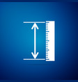 the measuring height and length icon isolated vector image vector image