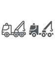 tow truck line and glyph icon transport and vector image vector image