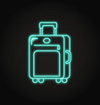 travel suitcase icon in neon line style vector image vector image