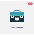 two color organ container icon from signaling vector image vector image