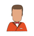 waiter faceless cartoon vector image vector image