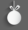 White 3d Christmas ball vector image vector image