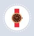 women wrist watch elegant clock shopping icon vector image