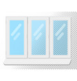 white window isolated on white background clear vector image