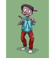 Zombie with knife on the head vector image