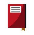 notebook with page marker icon image vector image