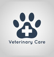 veterinary care logo vector image