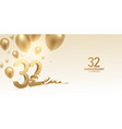 32nd anniversary celebration background vector image vector image