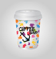 3d realistic coffee mug cup package vector image