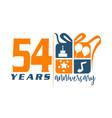 54 year gift box ribbon anniversa vector image vector image