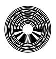 abstract circle design vector image