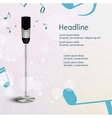 Abstract sound background with microphone vector image vector image
