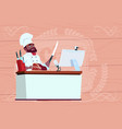 african american chef cook making video blog vector image vector image