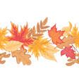 autumn seamless border vector image vector image