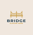 bridge logo template vector image