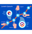Business concept of success and financial growth vector image