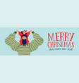 christmas and new year banner dad with daughter vector image