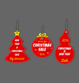 christmas and new year sale tag set vector image vector image