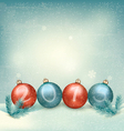 christmas background with a 2015 made out vector image vector image