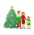 christmas celebration winter holiday people home vector image vector image