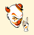 Clown face vector | Price: 3 Credits (USD $3)