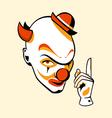 Clown face vector image vector image