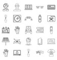 cyber learning icons set outline style vector image vector image