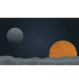 desert planet outer space vector image vector image