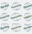 design vintage elements business sign labels vector image vector image