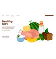 dietology landing page healthy diet web vector image vector image