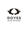 dove pigeon spade ace poker chips game cards logo