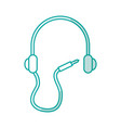 earphone device isolated icon vector image