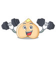 fitness chickpeas character cartoon style