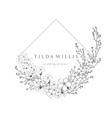 floristic feminine brand logo template vector image vector image