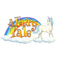 font design for word a fairy tale with white vector image